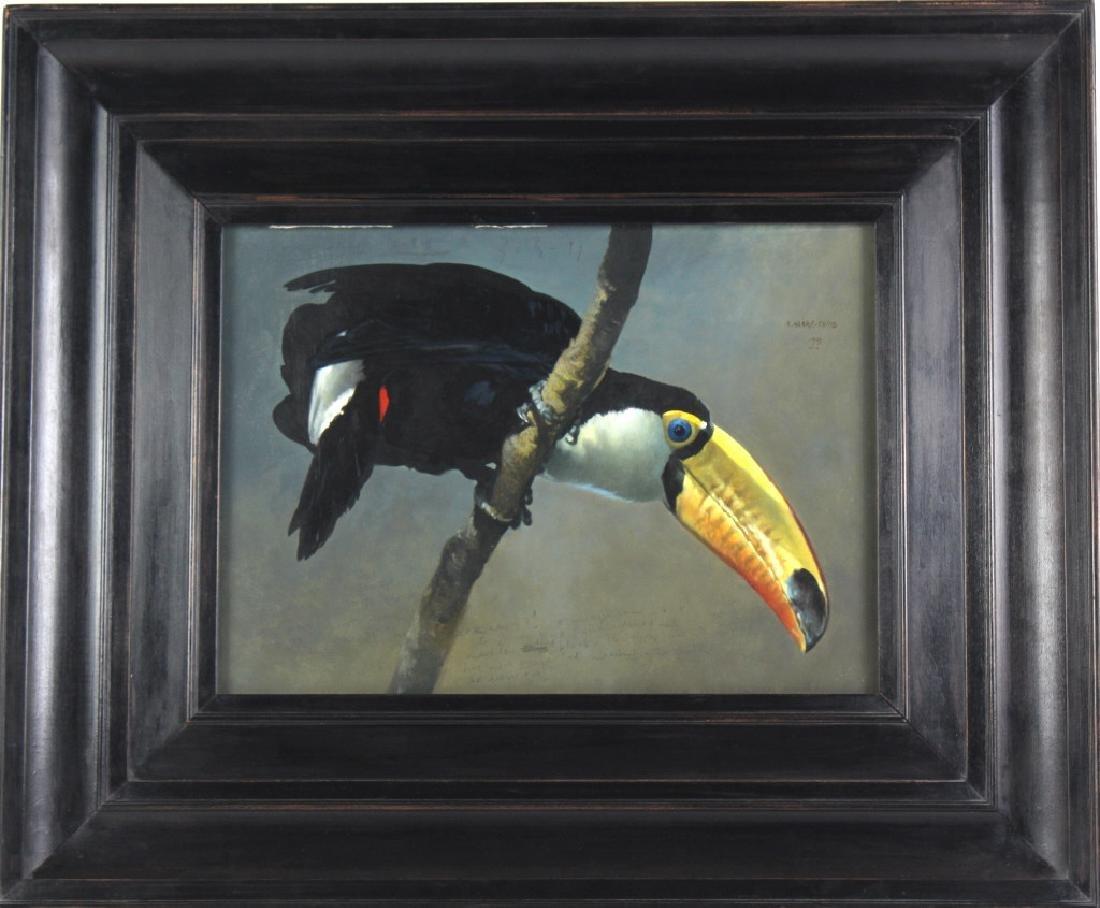 Raymond Harris Ching American Toucan Oil Painting