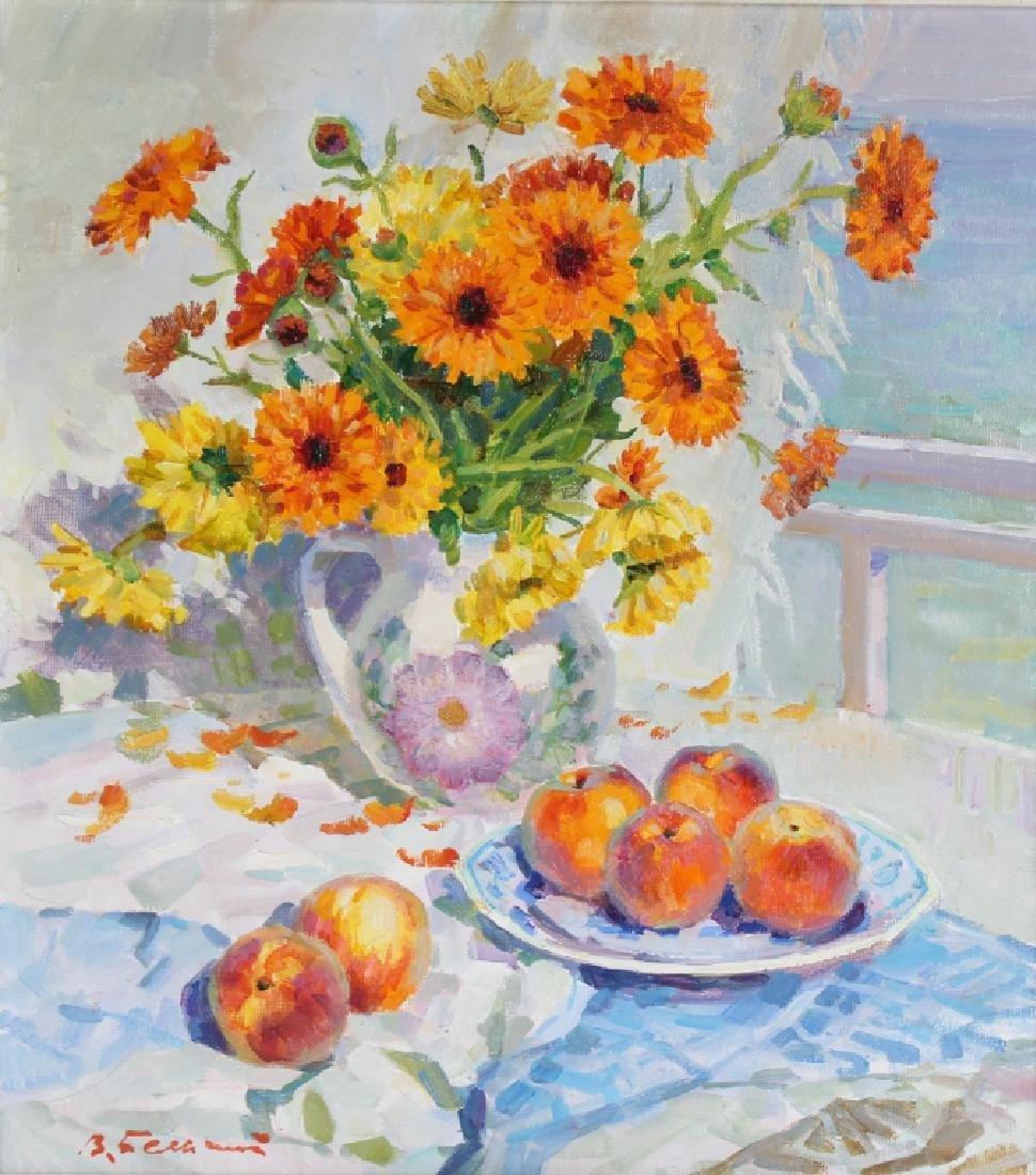 Vladimir Belsky b.1949 Russian Still Life Painting