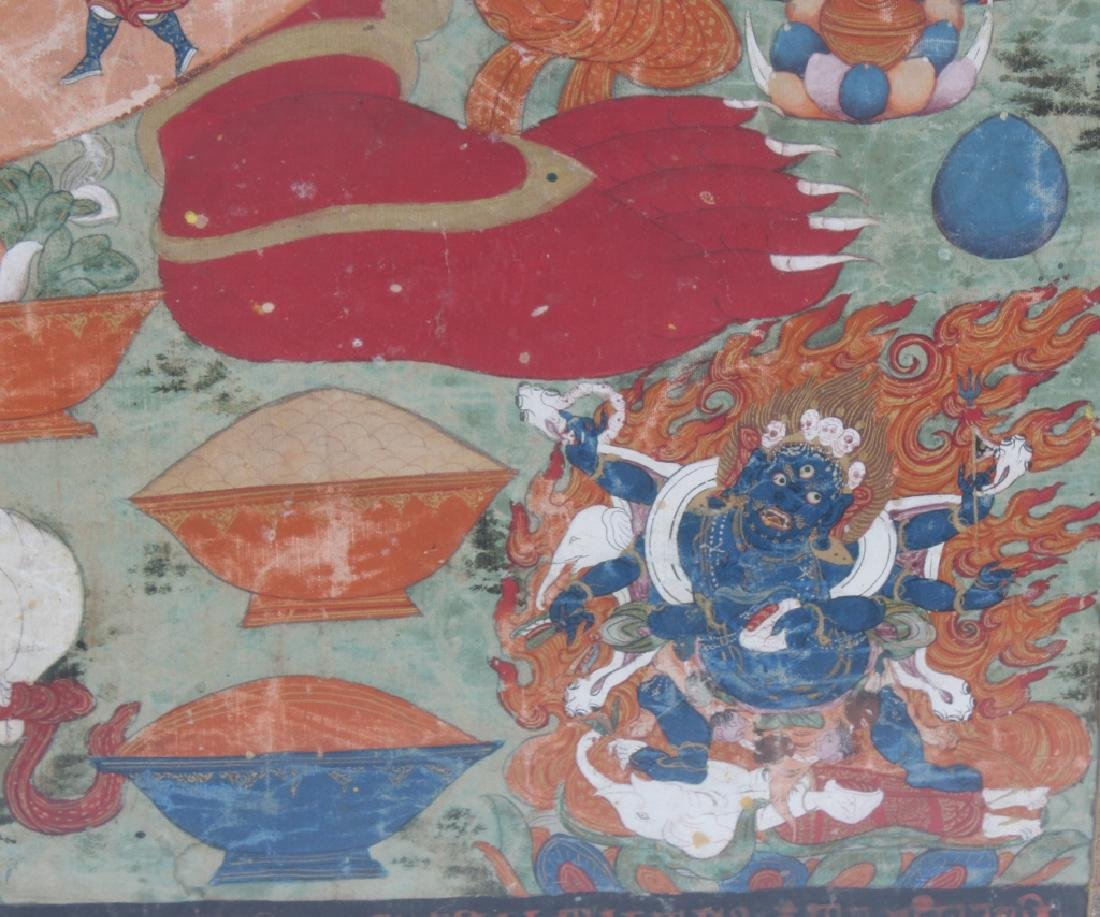 """Antique Indian Mughal Art Painting On Silk 41""""x30"""" - 6"""