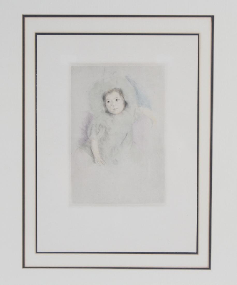 Mary Cassatt French Margot Wearing Bonnet Etching