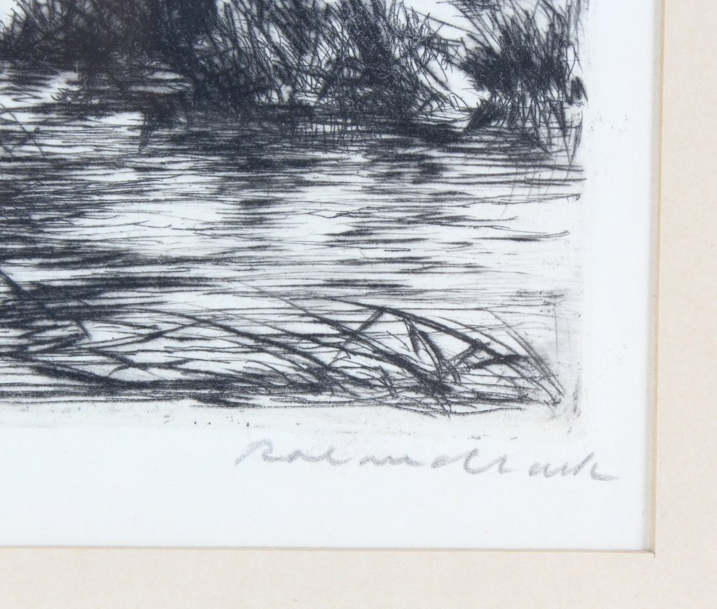 Roland Clark American, 2 Duck Hunt Etchings SIGNED - 3