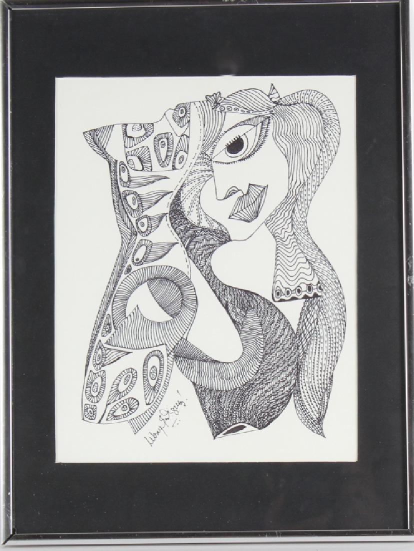 Melroy Rodriguez b.1967 American Portrait Drawing
