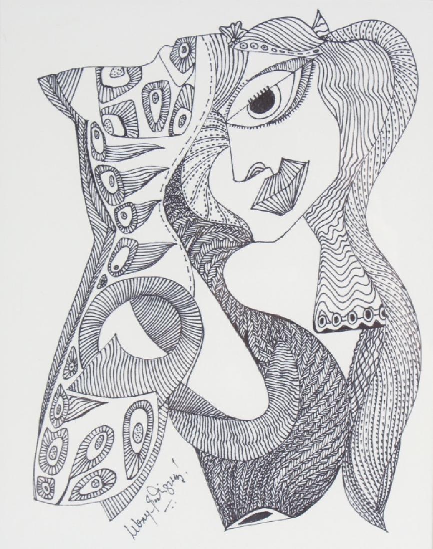 Melroy Rodriguez b.1967 American Portrait Drawing - 2