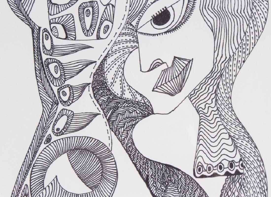 Melroy Rodriguez b.1967 American Portrait Drawing - 4