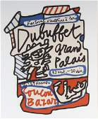 Jean Dubuffet 19011985 French Lithograph SIGNED