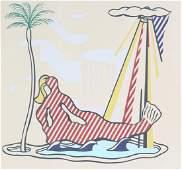Roy Lichtenstein Pop Art Mermaid Lithograph SIGNED