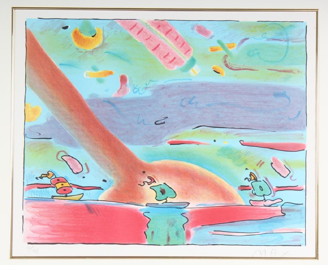 Peter Max b.1937 American Sailboats LE Lithograph