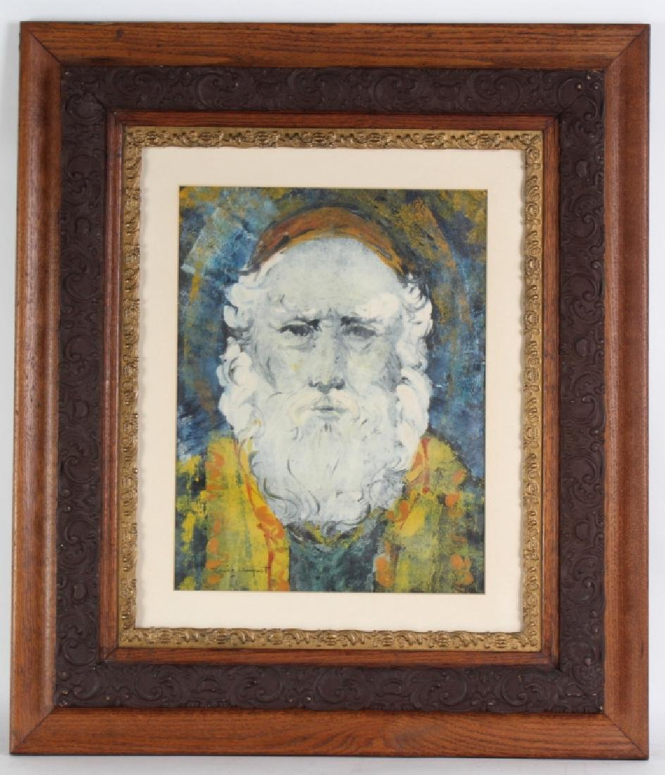 Louise August American Bearded Wise Man Painting