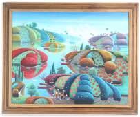 Saint Vil Murat Haitian Costal Landscape Painting