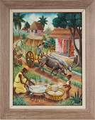 Andre Normil (1934-2014) Haitian Art Oil Painting
