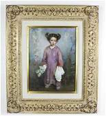 Cyrus Afsary American Child Portrait Oil Painting
