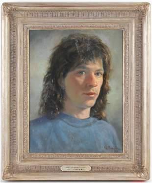 Hal Yaskulka NY Self Portrait Artwork Oil Painting