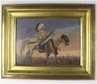 John DeMott American Indian Landscape Oil Painting