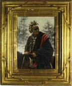 Robert Griffing American Indian Winter Painting