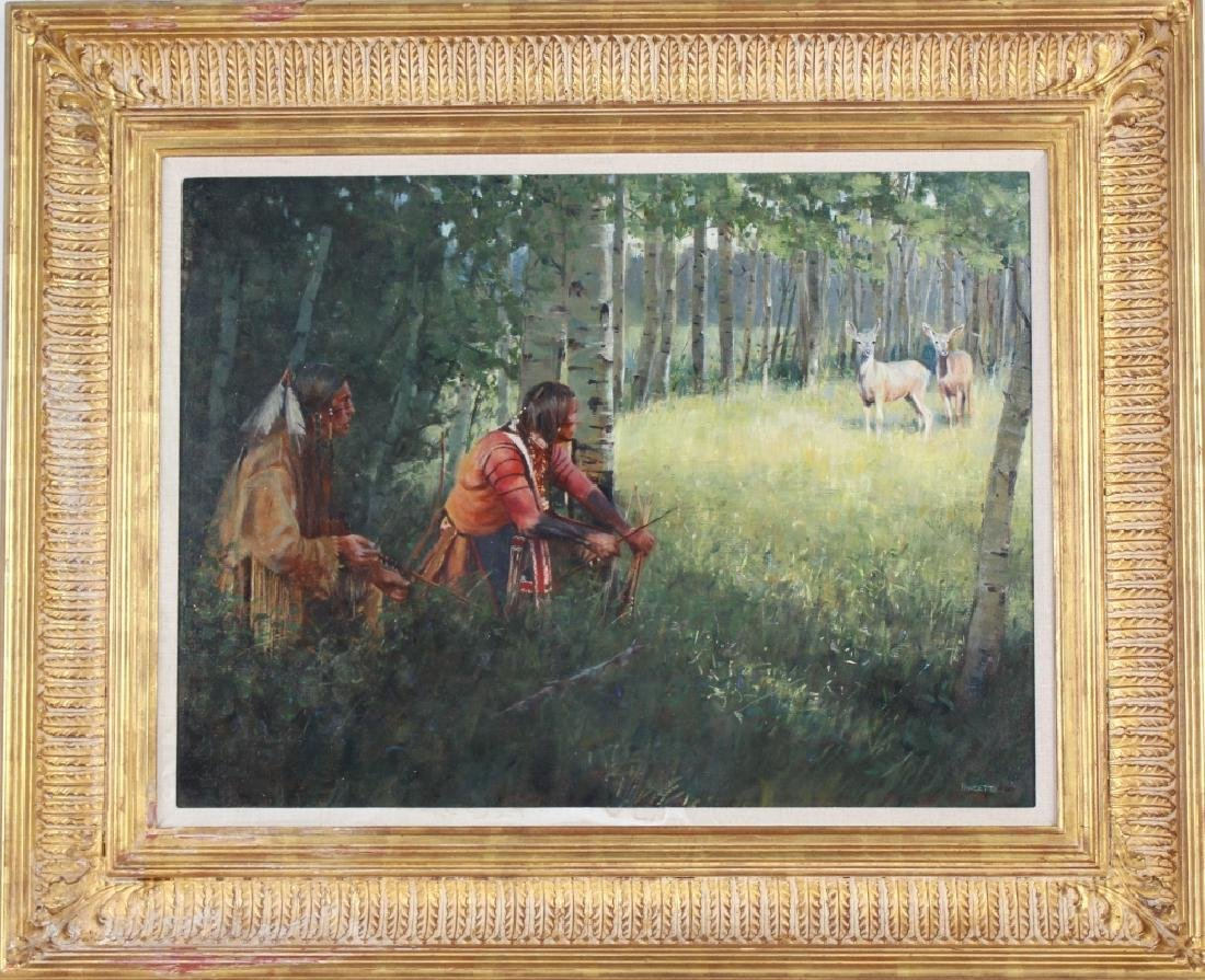 John Fawcett American Indian Deer Hunters Painting