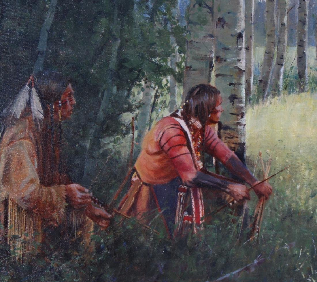 John Fawcett American Indian Deer Hunters Painting - 3