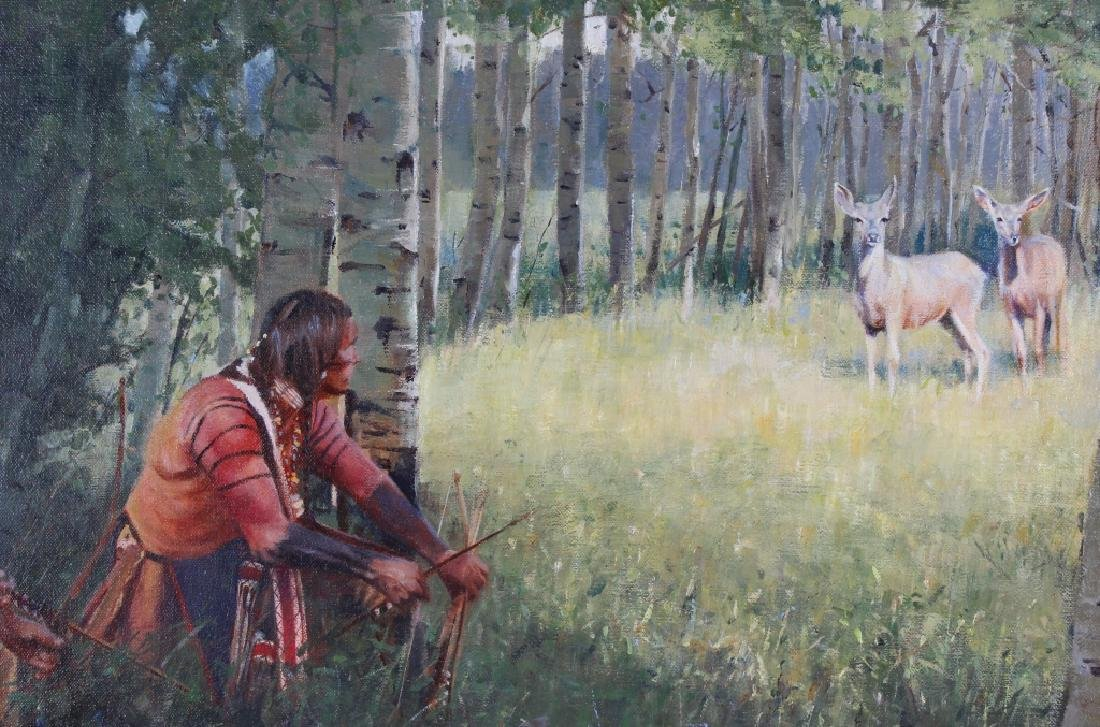 John Fawcett American Indian Deer Hunters Painting - 4