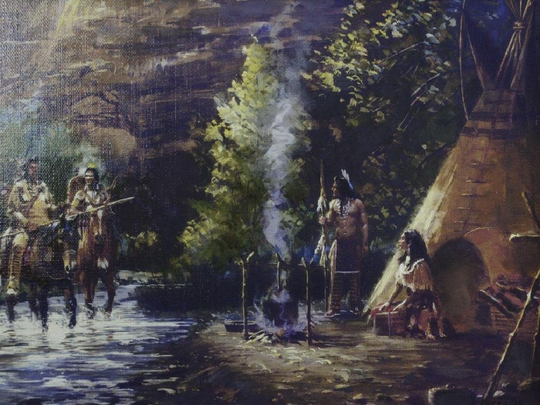Jim Carson American Indian Landscape Oil Painting - 2