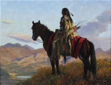 "Robert Duncan American ""Indian Landscape"" Painting"