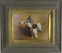 Wayne Baize American Western Cowboy Oil Painting