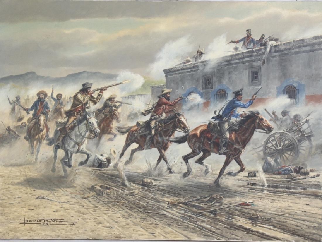 Donald Yena American War Illustration Oil Painting