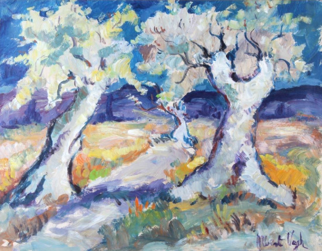 Albert Vagh b1931 Impressionist Landscape Painting