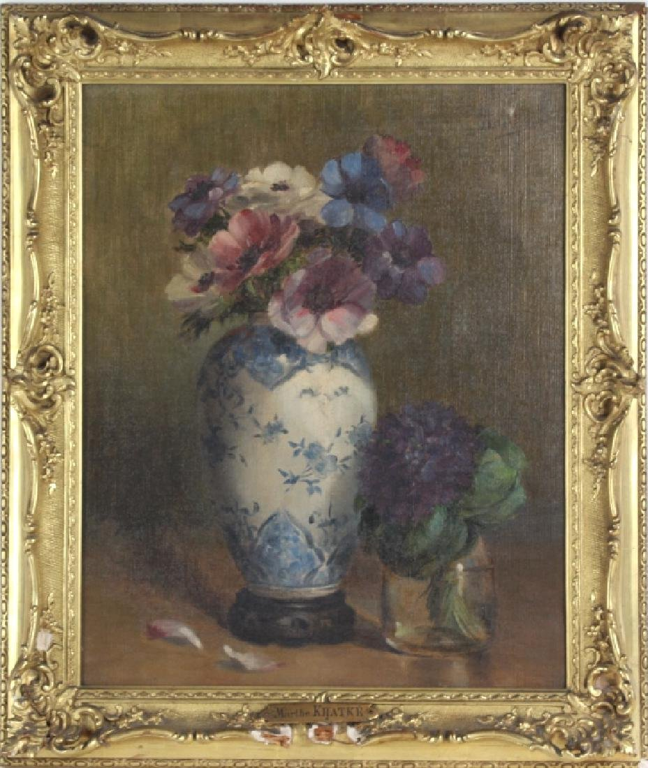 Marthe Kratke b1884 French Still Life Oil Painting