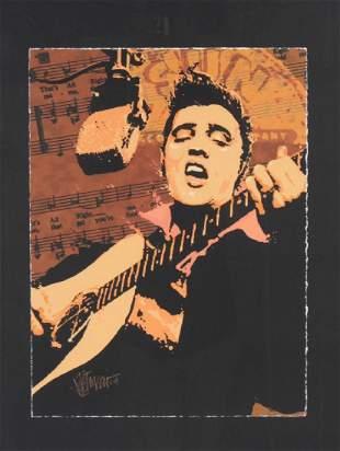 Joe Petruccio Elvis Presley Print on Wove Paper