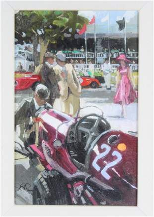 Sheree Valentine Daines Race Day Racers AP Giclee