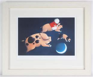 Doug Hyde b1972 UK Pigs Might Fly LE Lithograph