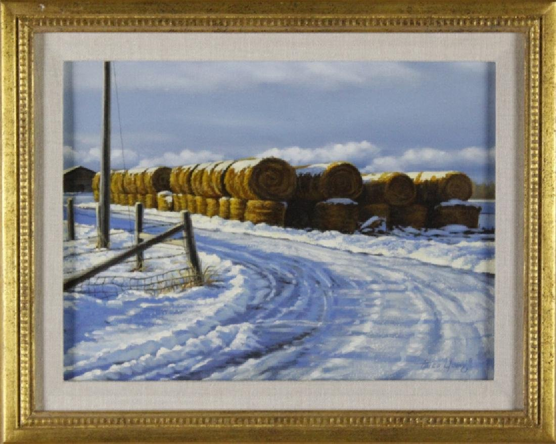 Paco Young American Winter Landscape Oil Painting