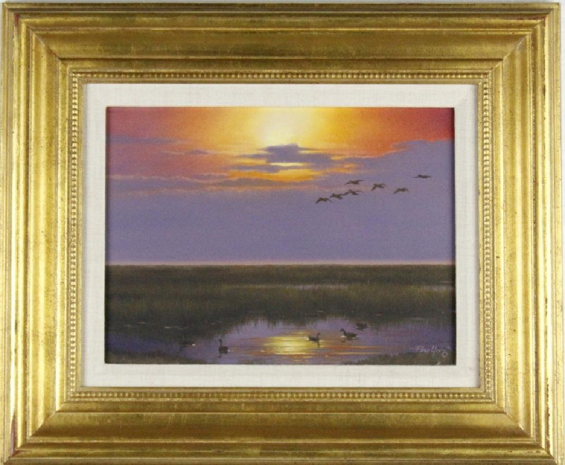Paco Young American Sunset Landscape Oil Painting