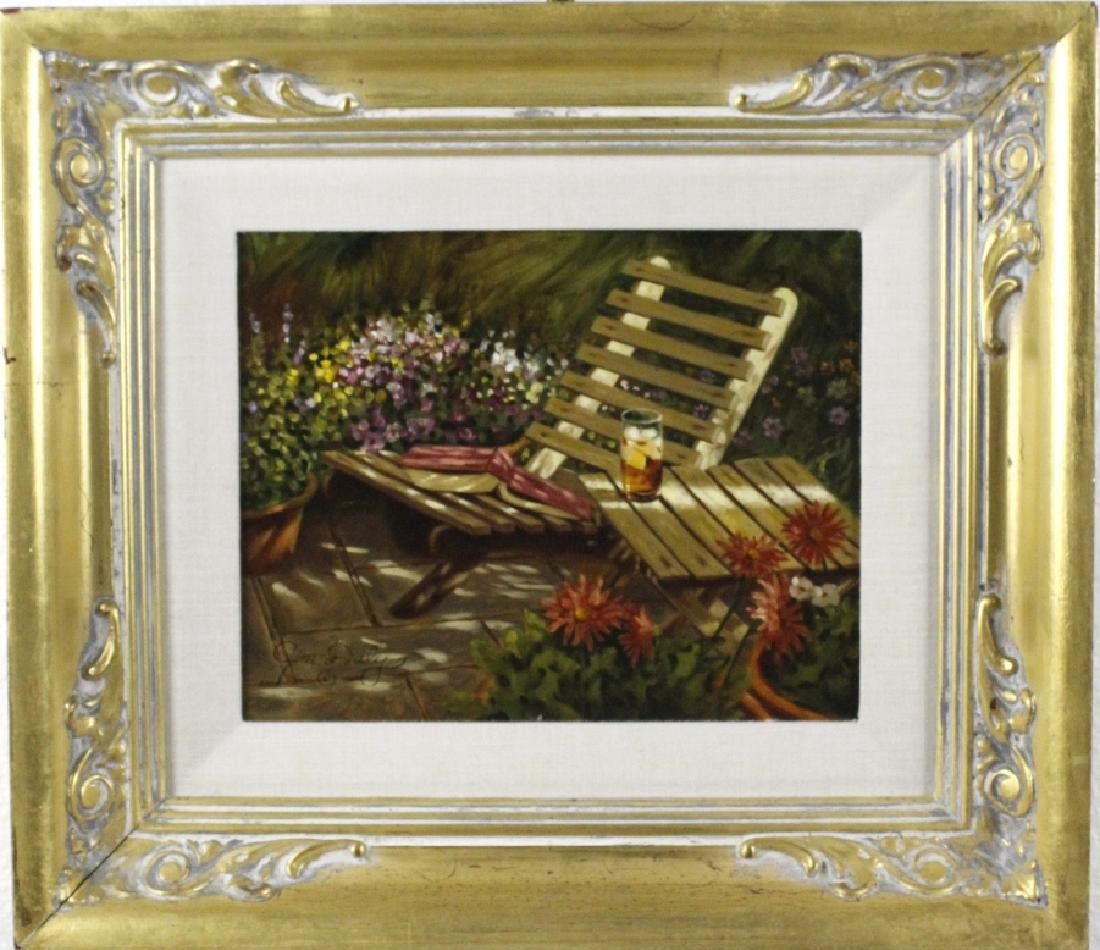 "Jim Daly American Still Life ""Summer"" Oil Painting"