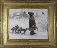 Robert Duncan b.1952 American Winter Oil Painting