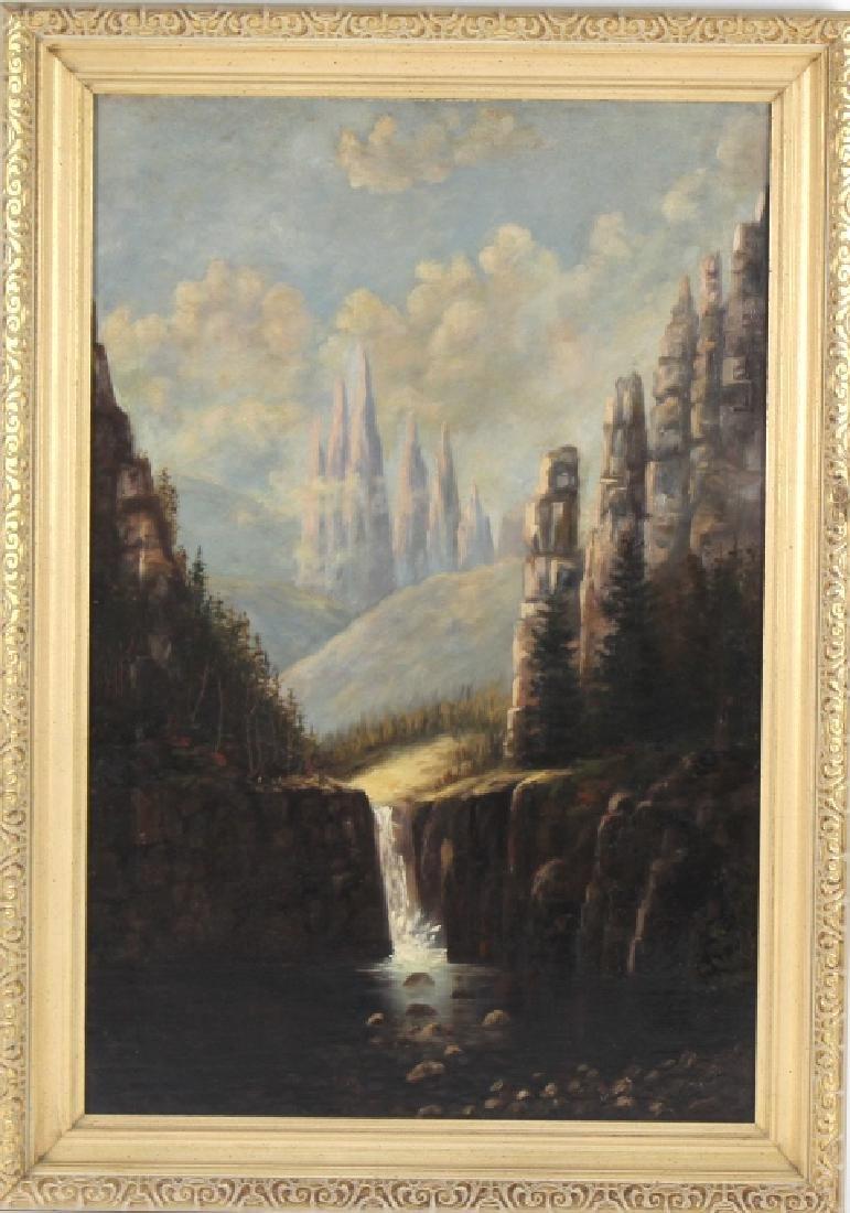 Antique European Landscape Oil Painting MYSTERY