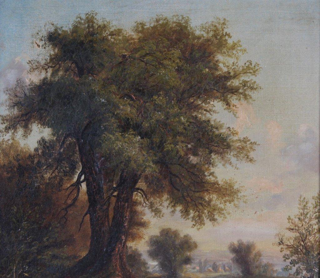 Antique 19th Century Pastoral Art Landscape Painting - 3