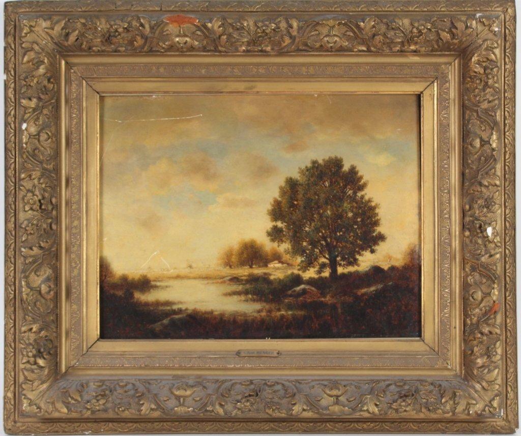 Gilbert Munger 1837-1903 American River Art Landscape