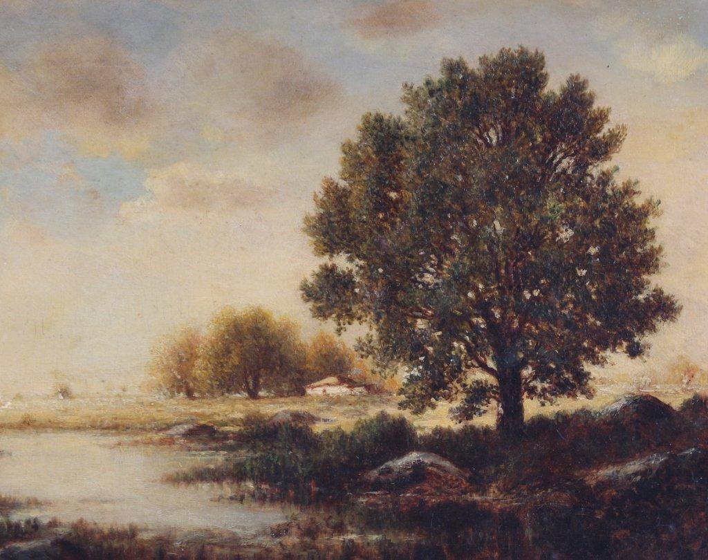 Gilbert Munger 1837-1903 American River Art Landscape - 3