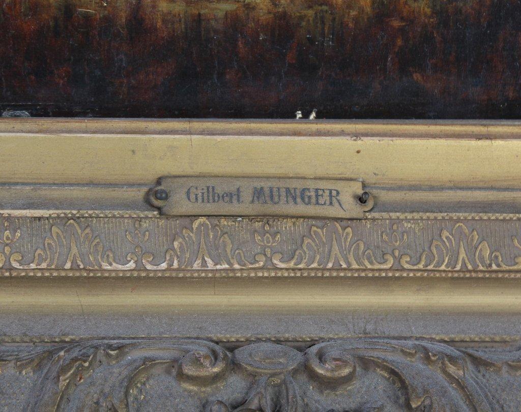 Gilbert Munger 1837-1903 American River Art Landscape - 7