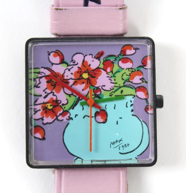 2 Peter Max American Signed Portrait Wrist Watches - 5