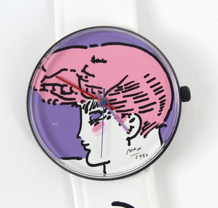 2 Peter Max American Signed Portrait Wrist Watches - 6