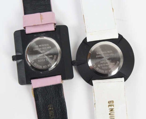 2 Peter Max American Signed Portrait Wrist Watches - 7