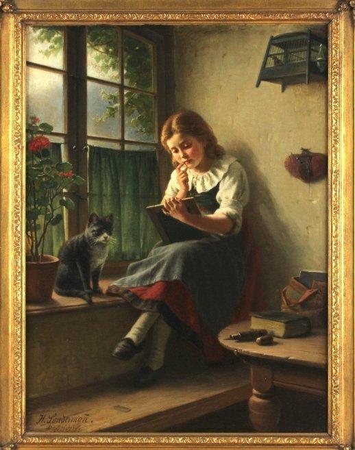 Hermann Sondermann (1832-1901) German Art Oil Painting - 2