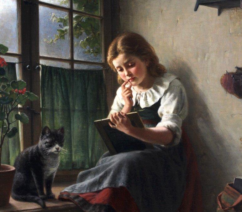 Hermann Sondermann (1832-1901) German Art Oil Painting - 3