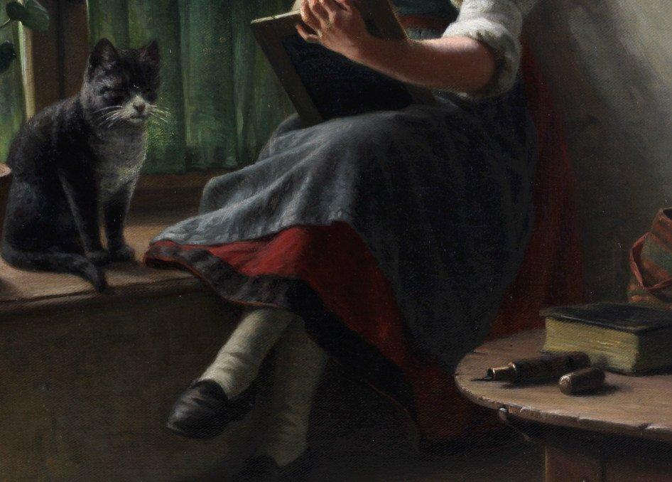 Hermann Sondermann (1832-1901) German Art Oil Painting - 4