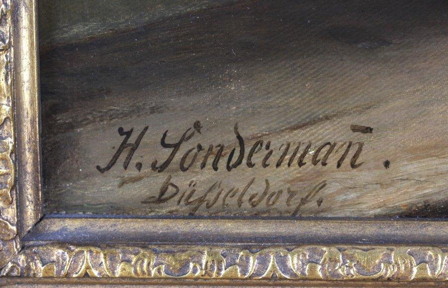 Hermann Sondermann (1832-1901) German Art Oil Painting - 5