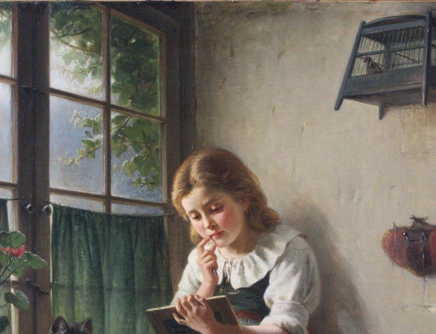 Hermann Sondermann (1832-1901) German Art Oil Painting - 6