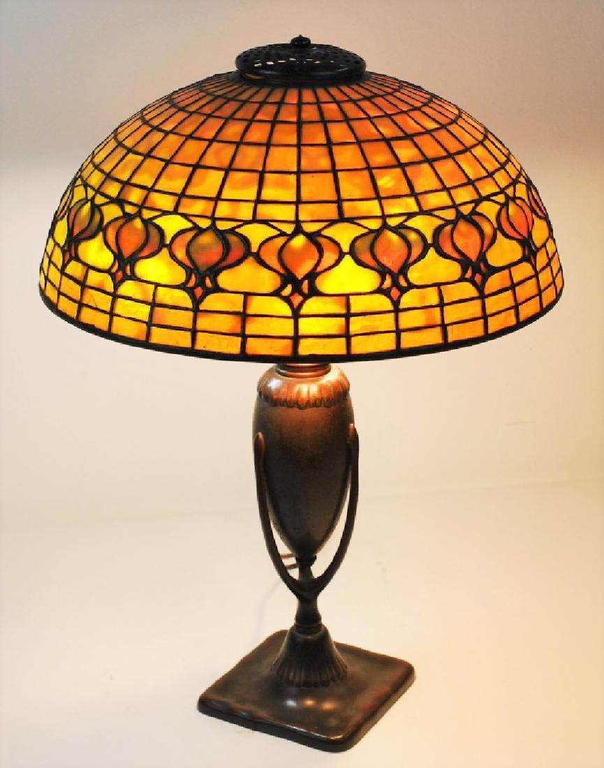 Tiffany Studios Leaded Glass Geometric Table Lamp - 2