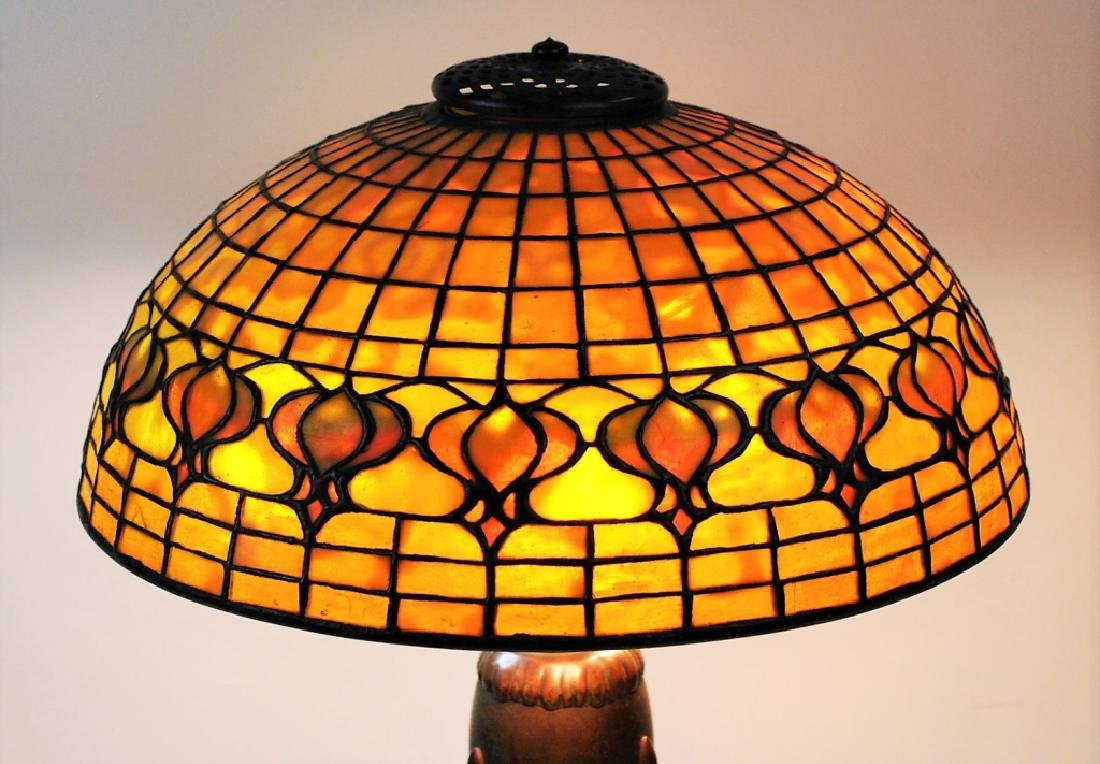 Tiffany Studios Leaded Glass Geometric Table Lamp - 3