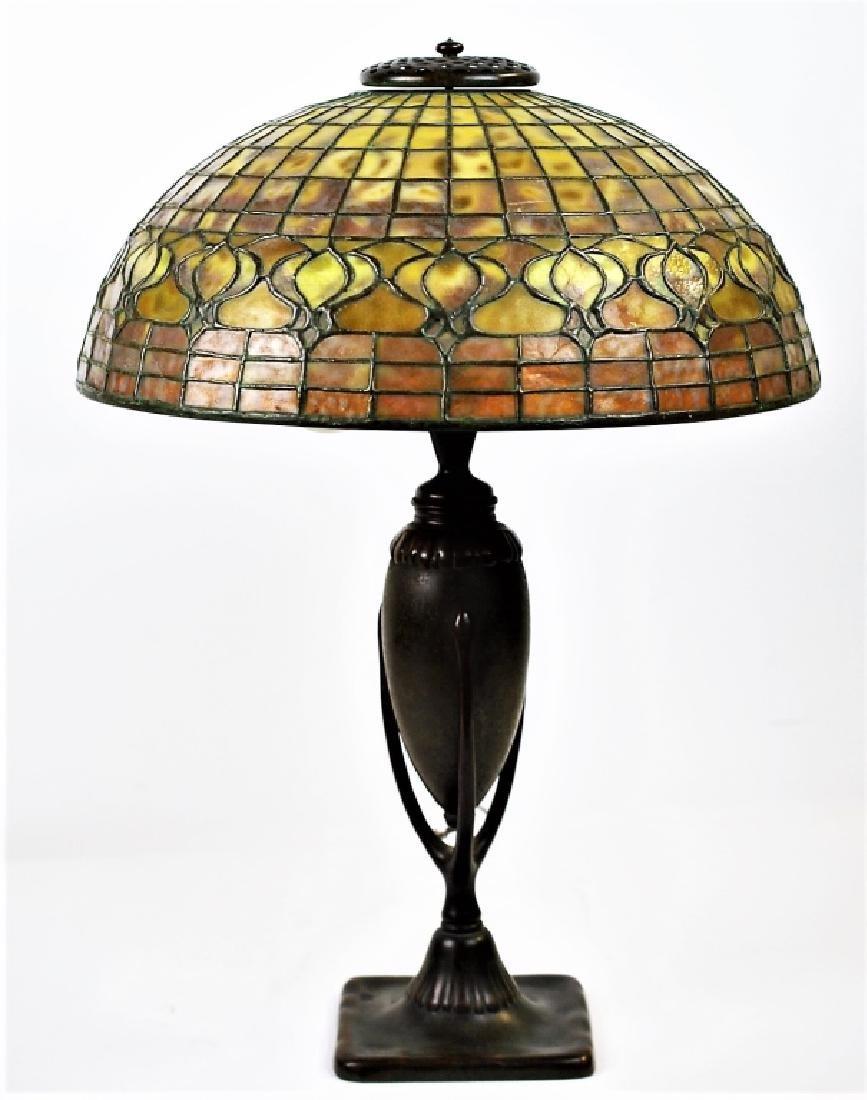 Tiffany Studios Leaded Glass Geometric Table Lamp - 4